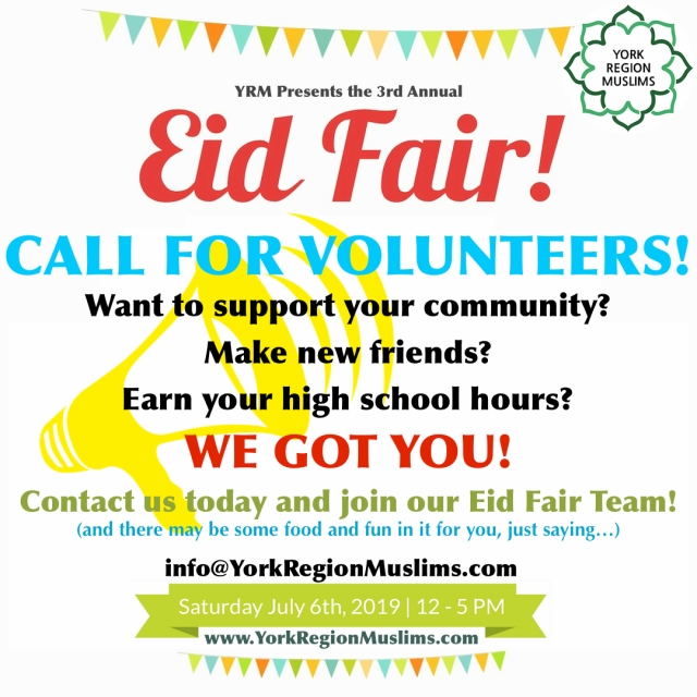 EidFairVolunteerFlyer2019